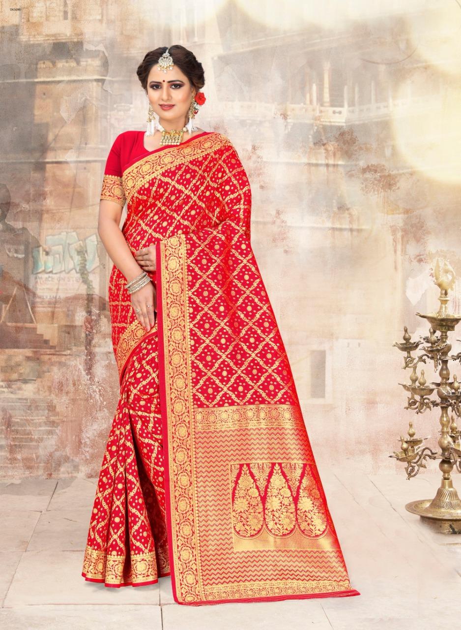 Thankar Dwarka 2 Beautiful Rich Silk Jacquard work Saree Wholesaler in Surat