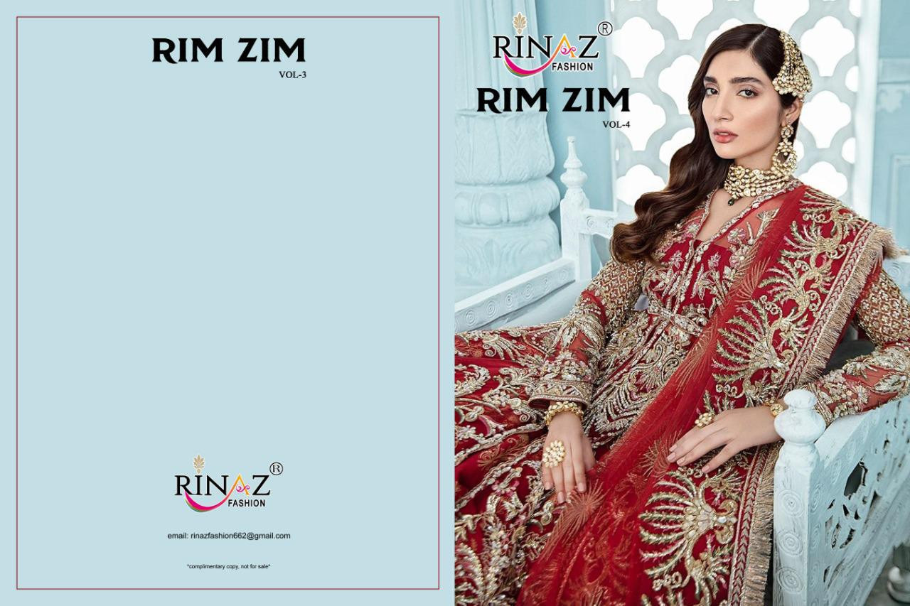 Rinaz- Fashion Rim Zim Vol 4 Stylish Butterfly Net Embroidered  Pakistani Suit Catalog at Wholesale rate