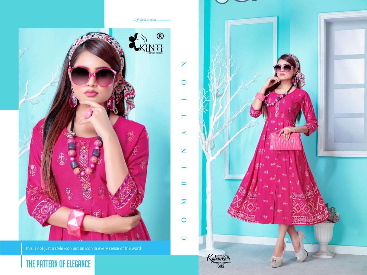 Kinti Kalamkari 3 Designer Rayon Slub 14kg Kurti Catalog at Wholesale rate