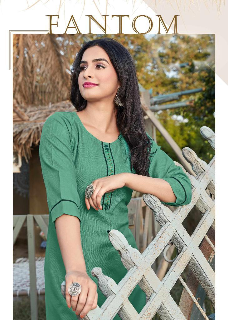 12Angel Fantam Designer Heavy Rubby Cotton   Kurti Catalog at Wholesale rate