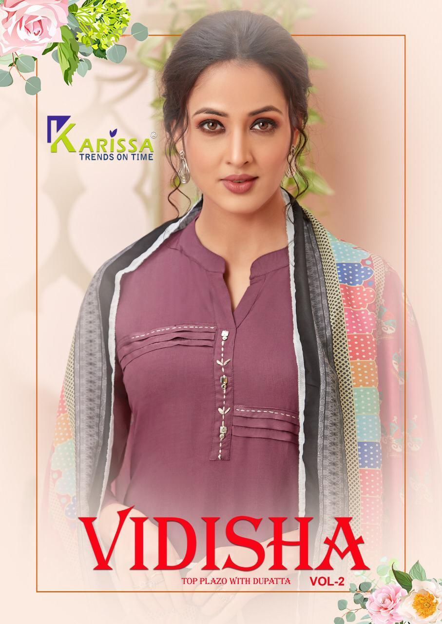 Karissa Vidisha Vol 2 Designer premium 14 kg Thread Work Kurti With Palazzo Catalog at Wholesale rate