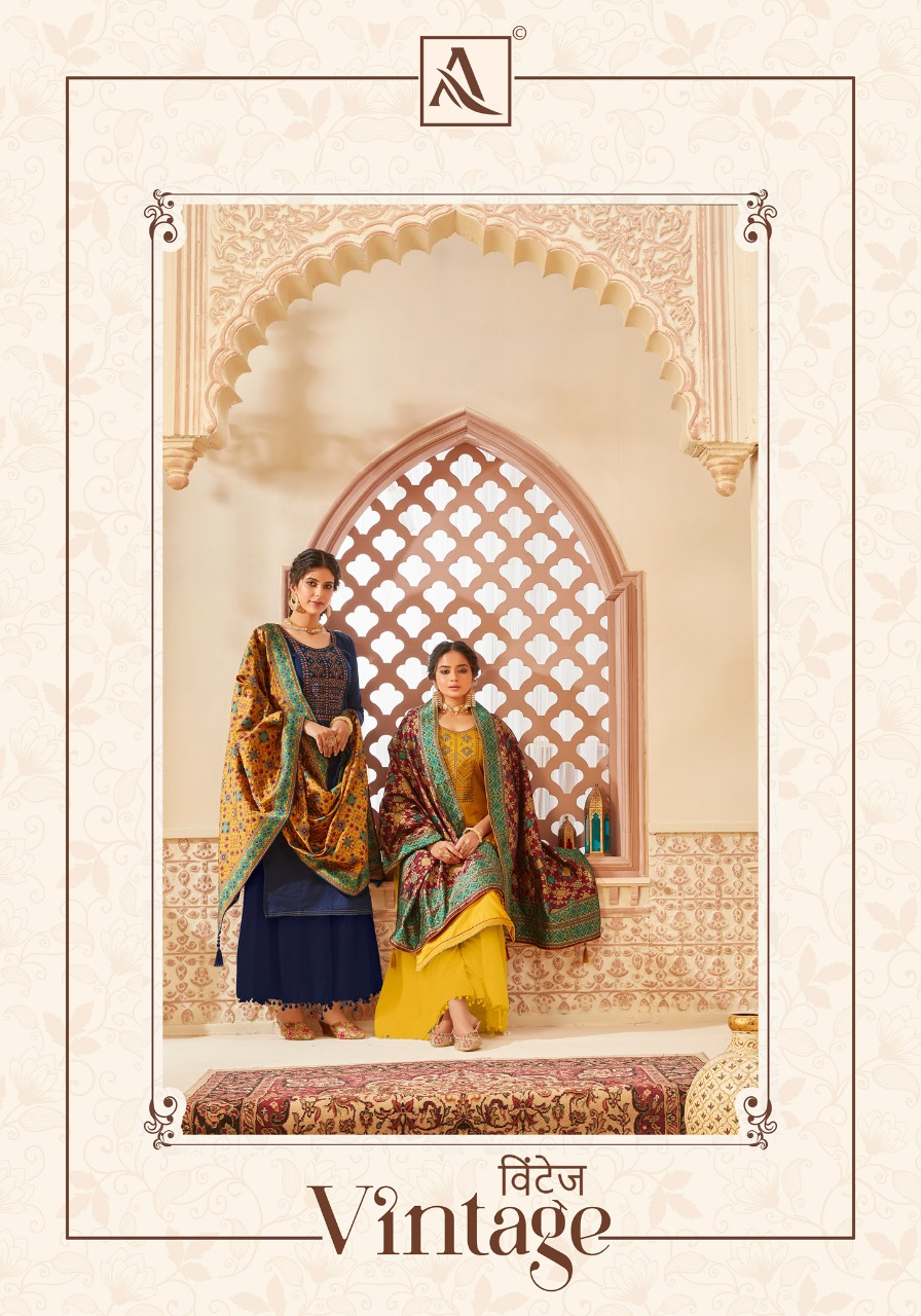 Alok Suit Vintage  Stylish  Pure Jam Cotton Kashmiri Embroidered  Salwar Suit Catalog at Wholesale rate