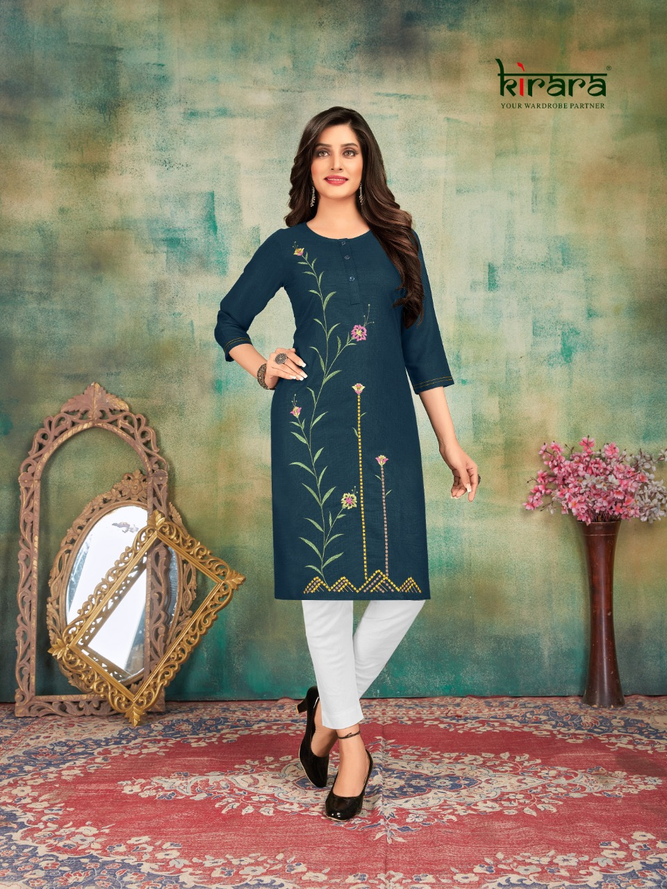 Kirara Shirui Lily Vol-1 Designer Magic Cotton Embroidered Kurti Catalog At Wholesale rate