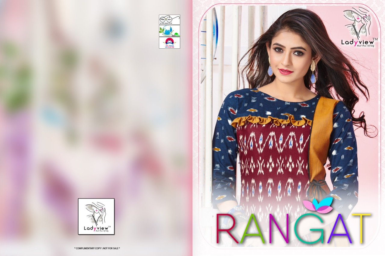 Ladyview Rangat  Designer Cotton Flex With Ekkat Print Kurti Catalog at Wholesale rate