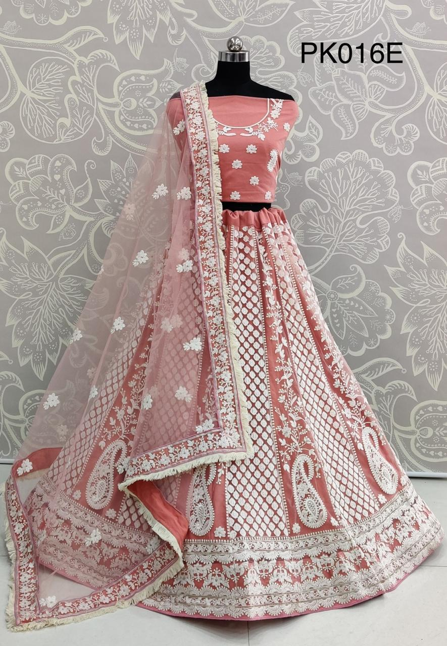 Thankar PK016 Designer Heavy Net Lakhnavi thread work wedding lehenga choli Catalog at Wholesale rate