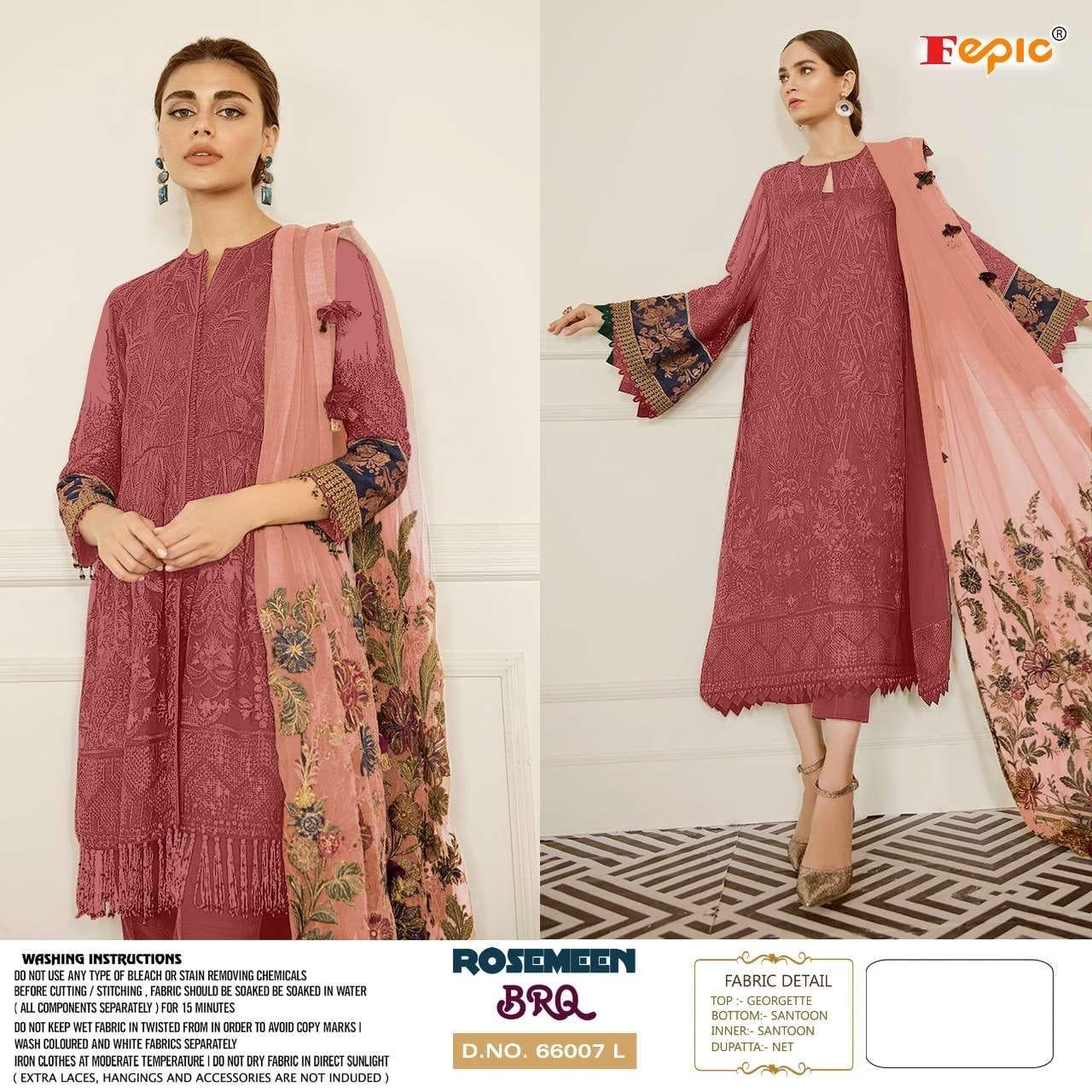 Fepic Rosemeen Brq Stylish Georgette  Pakistani Suit Catalog at Wholesale rate