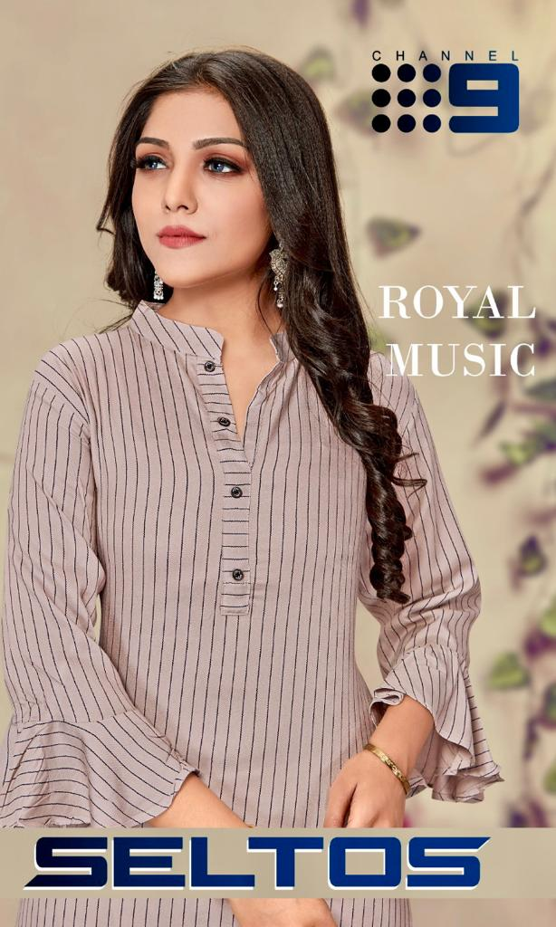 Channel 9 Seltos Designer Rayon Kurti With Palazzo Catalog at Wholesale rate