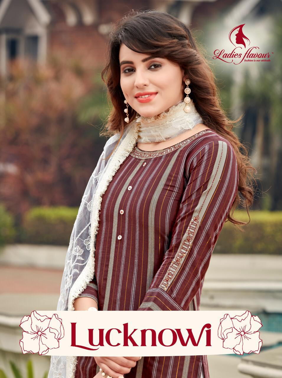 Ladies Flavour Lucknowi Designer Rayon Lurex with Embroidery Work  Kurti Catalog at Wholesale rate