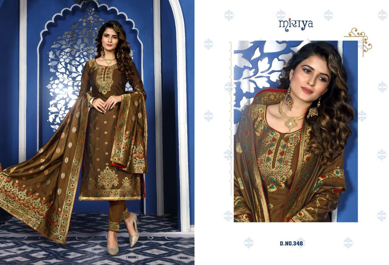 Miraya Basanti Beautiful Silk Meenakari jacquard Salwar Suit Catalog at Wholesale rate