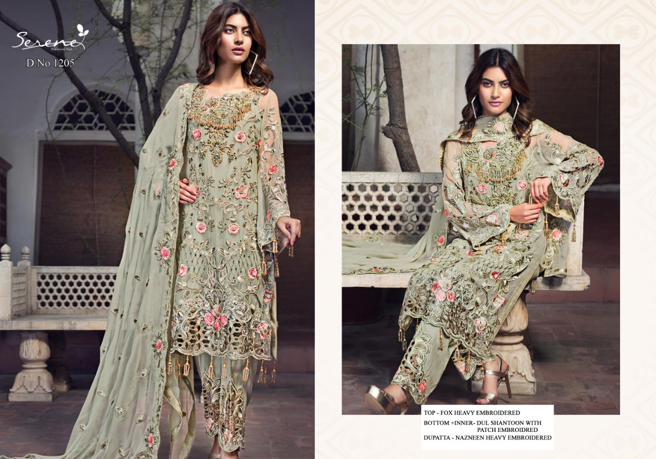 Serene Zebtan Hit Cord Beautiful Faux Georgette Embroidered Pakistani suit Catalog at Wholesale rate