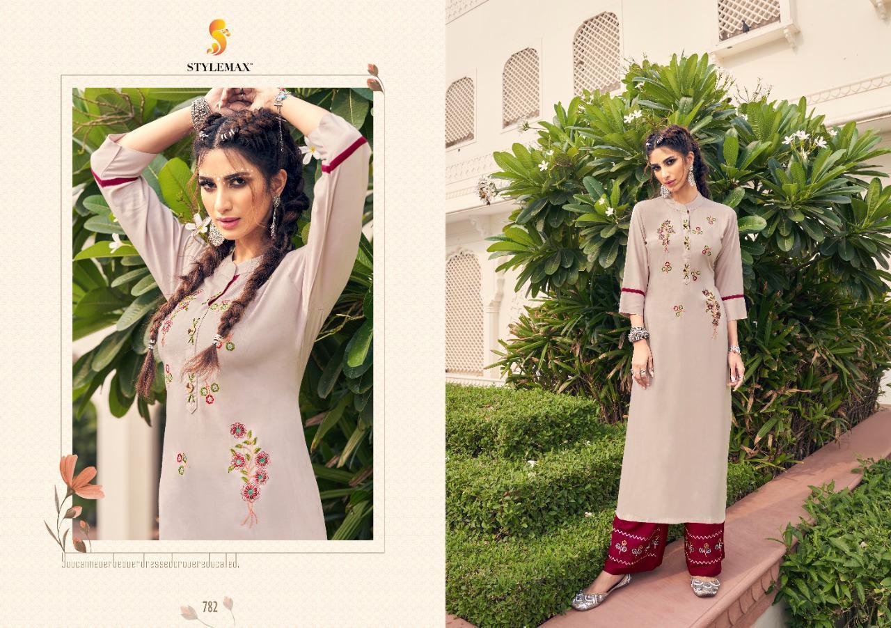 Stylemax Ananya -6 Designer Heavy Airtex Rayon Embroidered Kurti Catalog at Wholesale rate