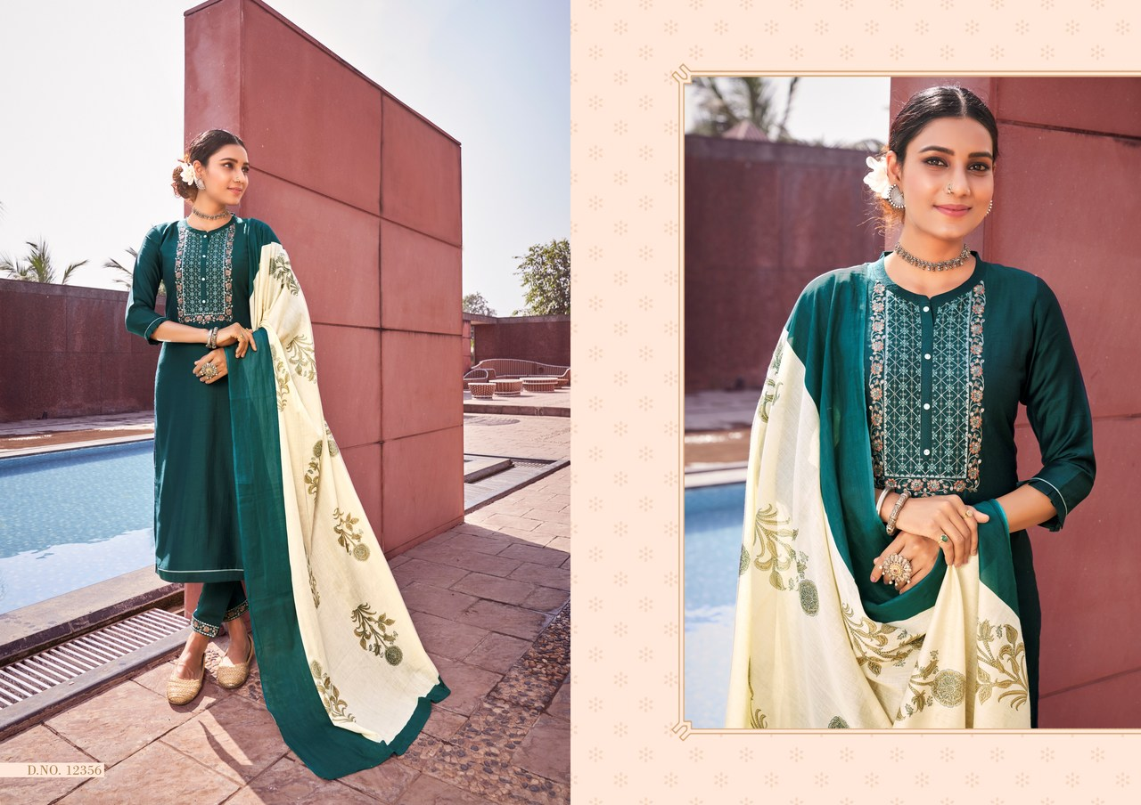 Kvs Purika Vol 2 Designer Lining Silk Embroidery & Sequence work Kurti  Catalog at Wholesale rate
