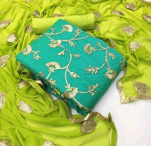 RN Beautiful Modal Chanderi Silk  Dress Material Catalog at Wholesale rate