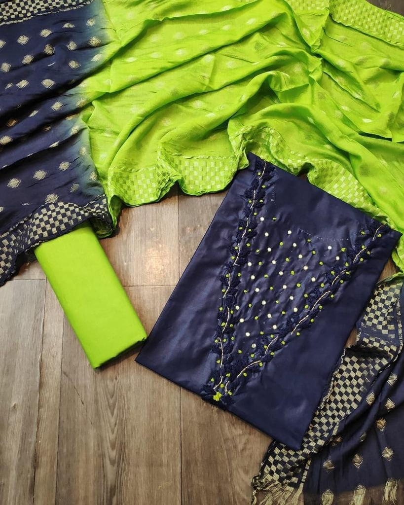 Thankar Designer PC Cotton Handwork  Dress Material Catalog at Wholesale rate