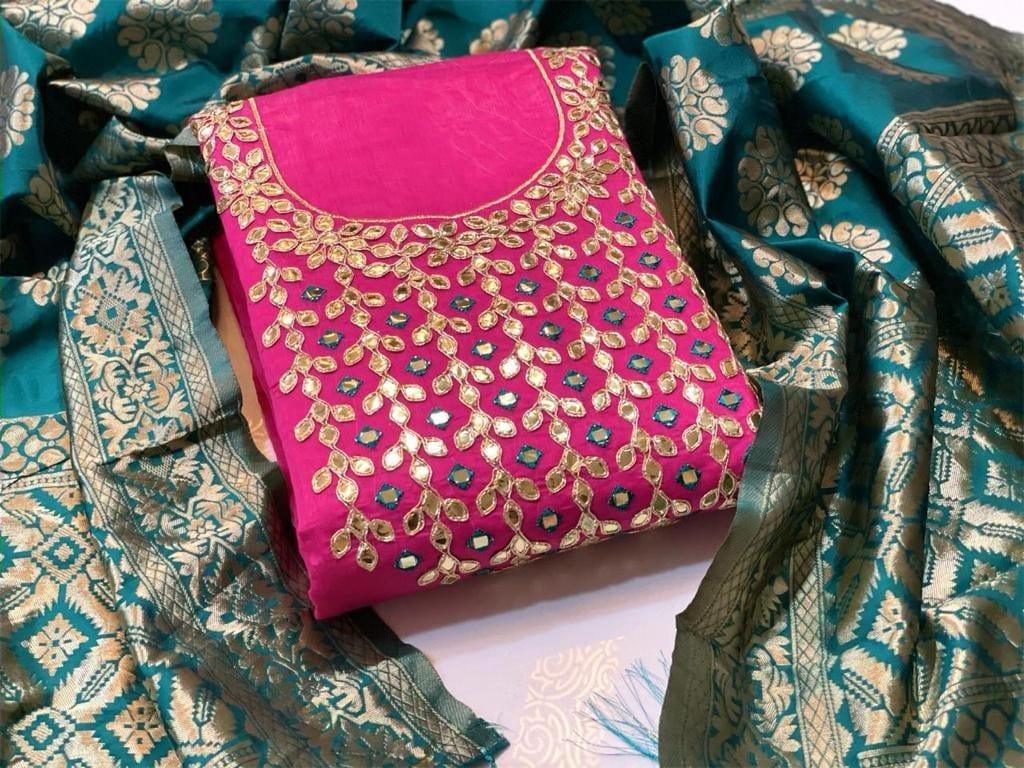 RN Beautiful Chanderi Modal Silk Dress Material Catalog at Wholesale rate