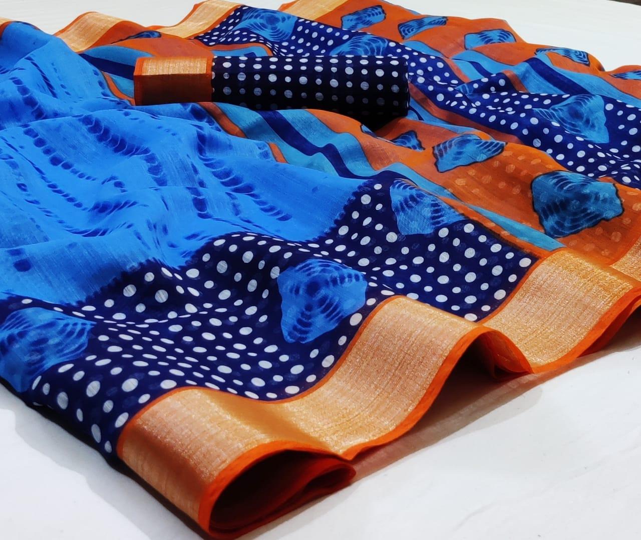 Thankar  siburi print Casual Wear Printed Catalog Saree At Wholesale Saree
