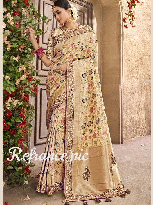 Thankar Silsila Silk Wedding Wear Pure Silk With Jecquard Saree Catalog At Wholesale Rate