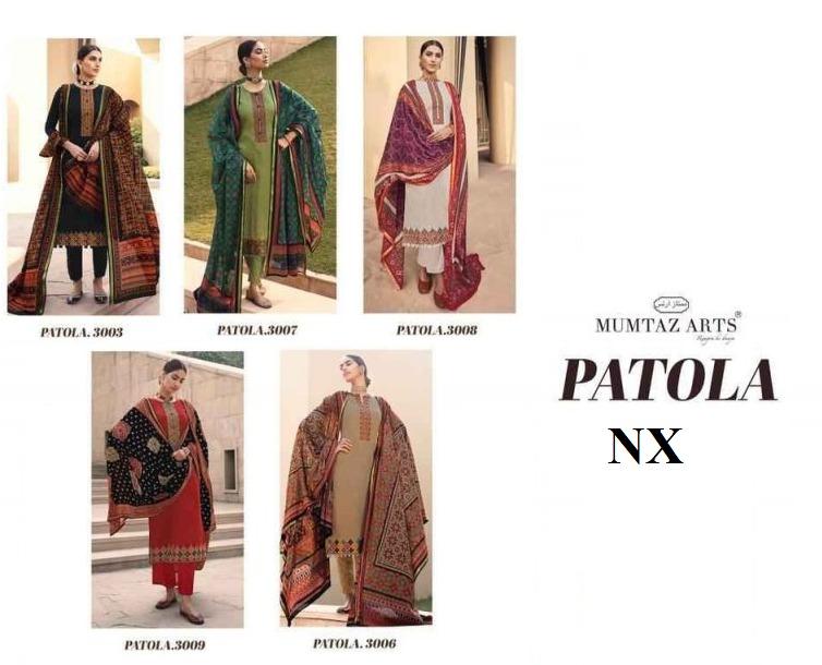 Mumtaz Arts Patola NX Kashmiri Embroidery Digital Print Lawn Cotton Suits At Wholesale Rate