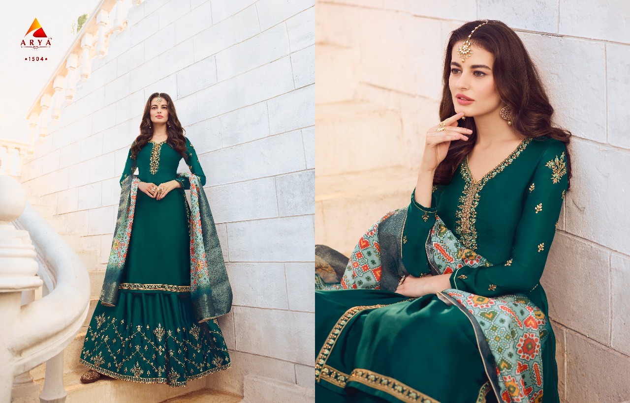 ARYA VOL-5 Present Gorgeous Look For Sharara Style Salwar Suit At Wholesale Rate