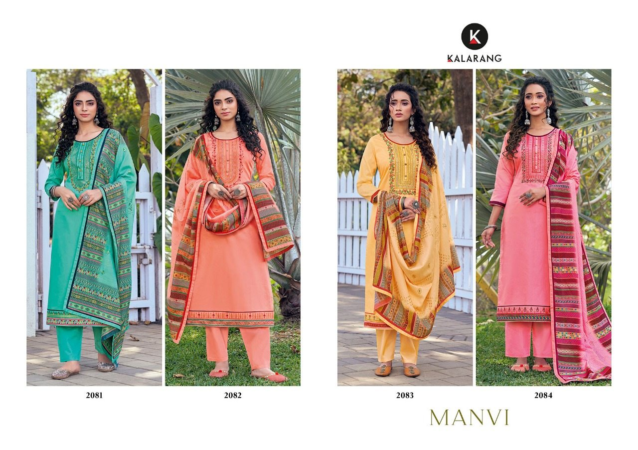 KVS Manvi Jam Silk Cotton Sequence Work And Embroidery Dress Material At Wholesale Rate