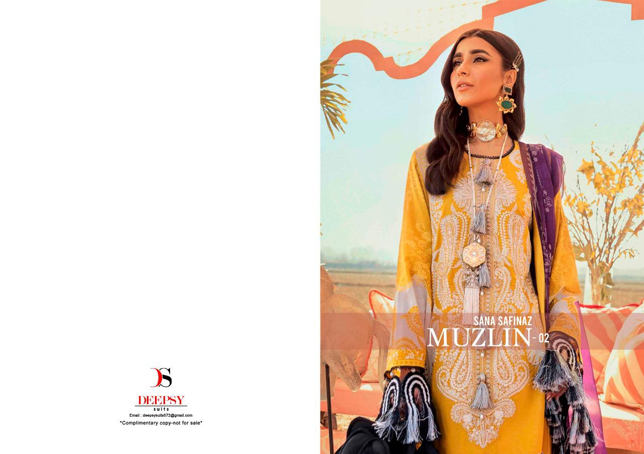 Deepsy Sana Safinaz Muzlin-2 Pure Cotton Print With Embroidery Salwar Suit At Wholesale Rate
