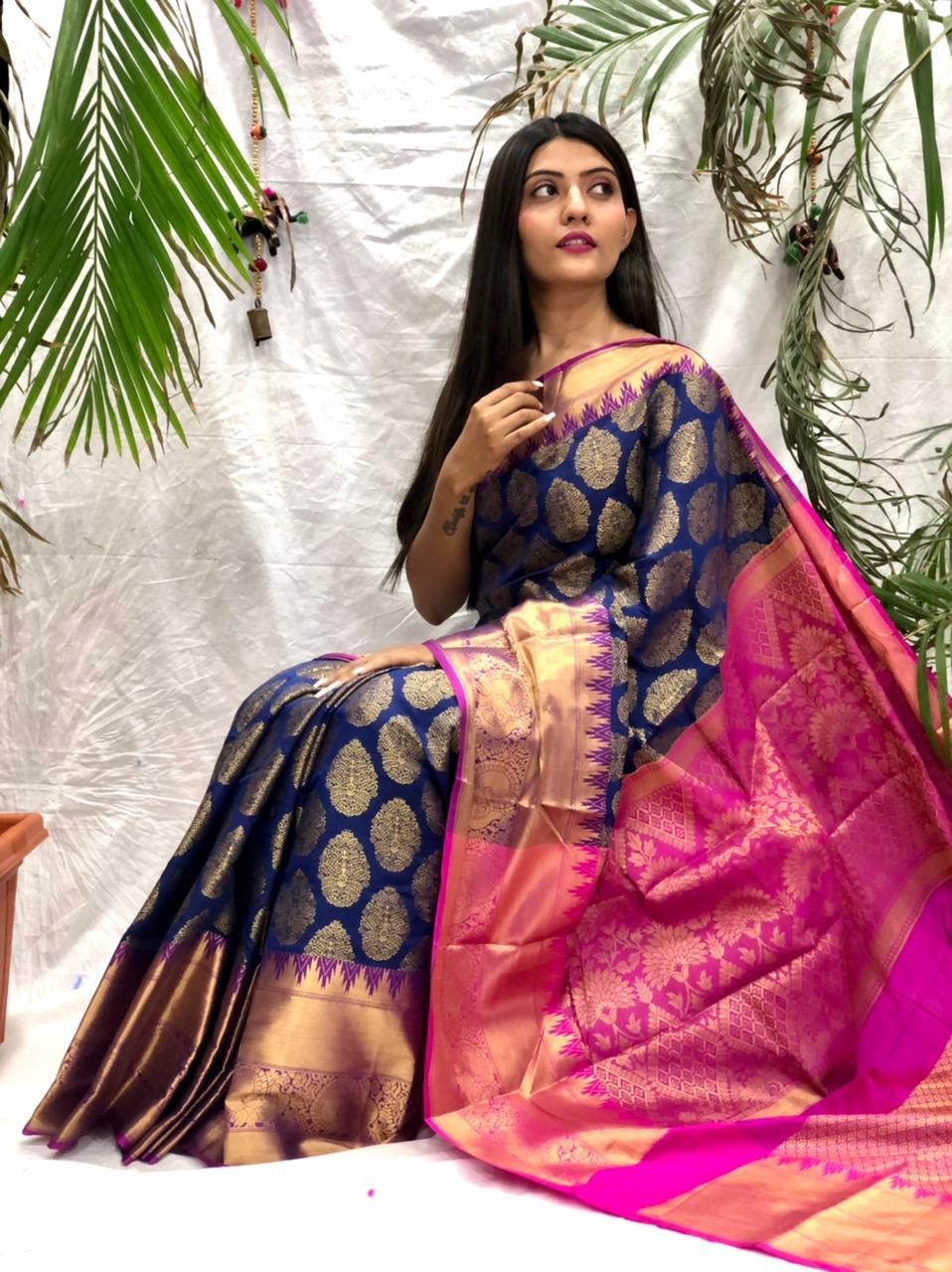 Vastra Presents Royal Ethnic Kanchipuram Silk Saree At Wholesale Rate