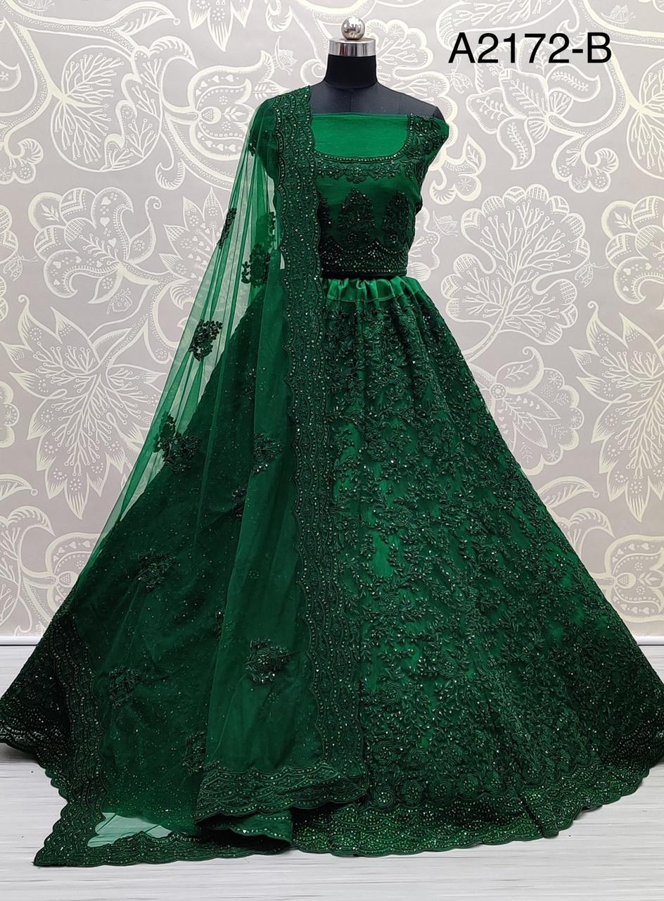 A2172 Presents Beautiful Work Of Heavy Net Bridal Lehenga Choli At Wholesale Rate