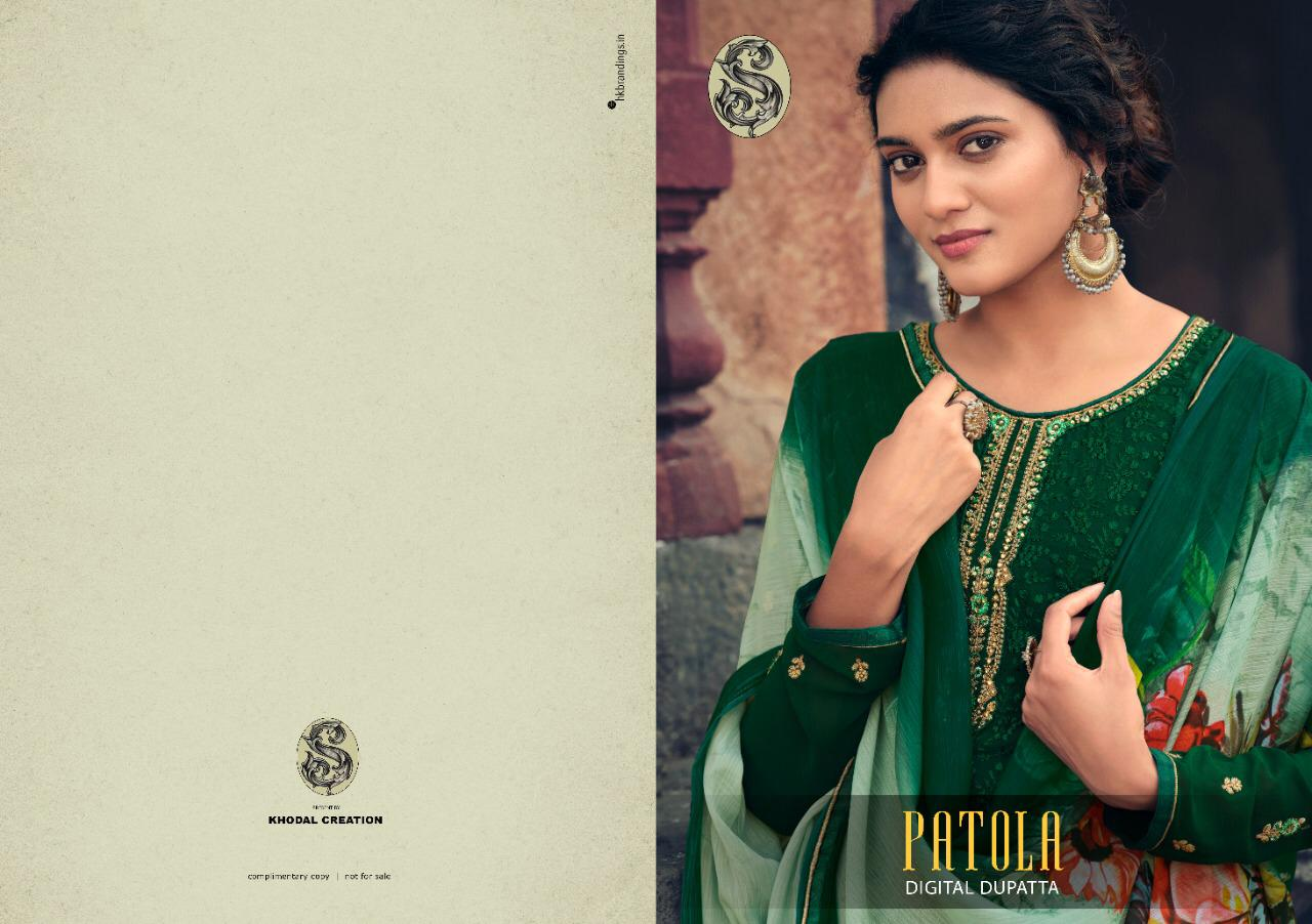 Exclusive Partywear Embroidery With Stone Work Fox Georgett Suit At Wholesale Rate