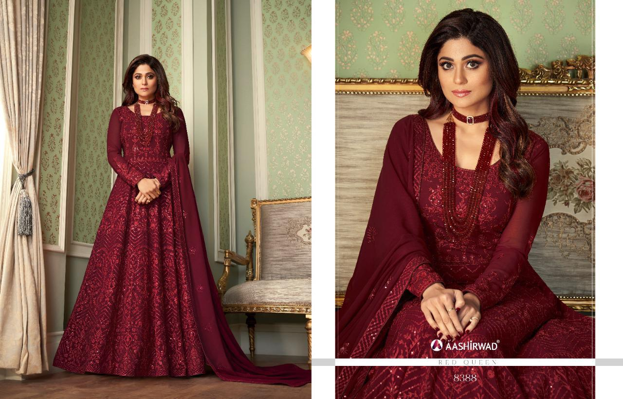 Awesome Partywear Embroidery With Stone Work Gown At Wholesale Rate