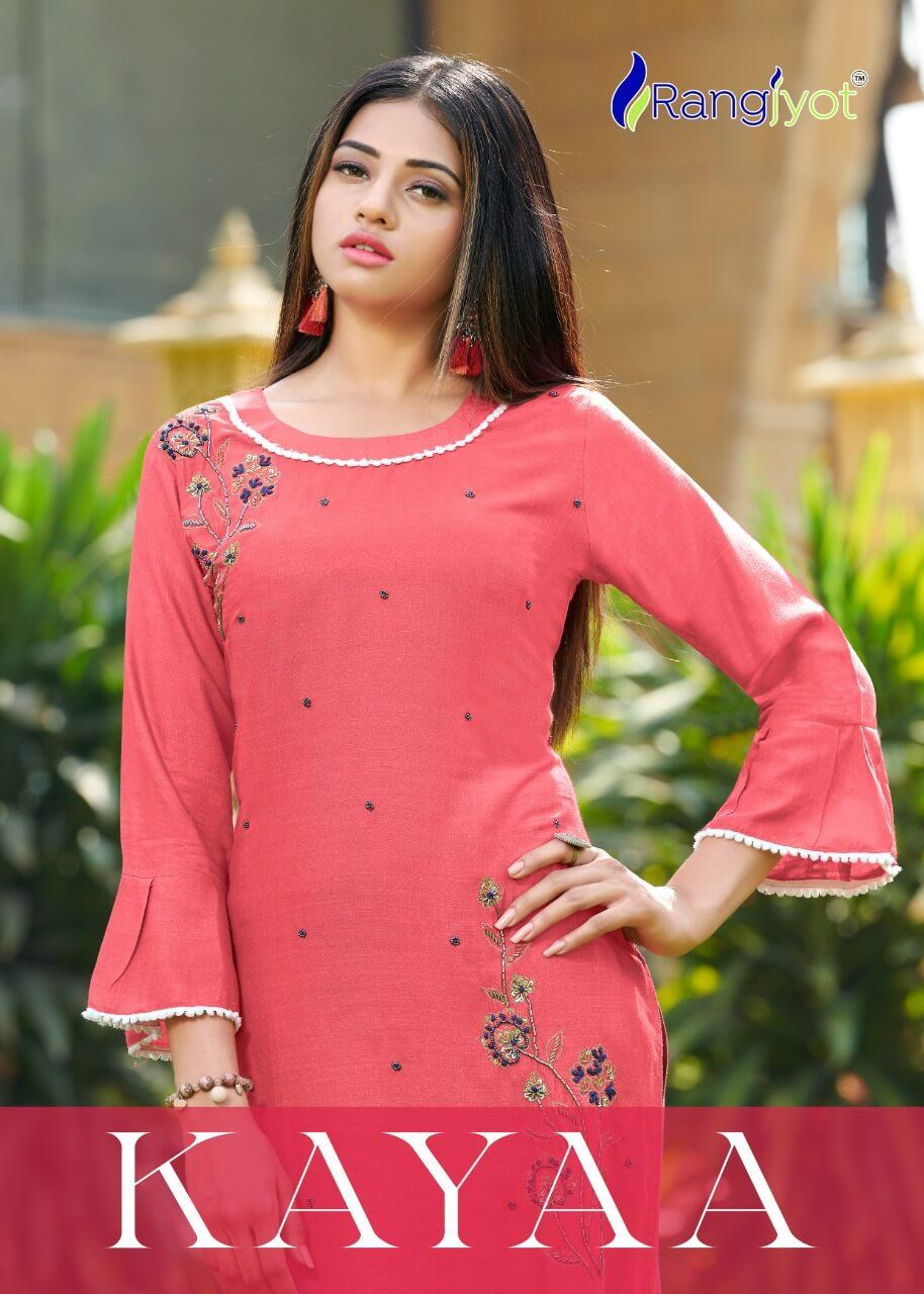 Stylish Designer Handwork Rayon Kurtis With Fancy Pant At Wholesale Rate
