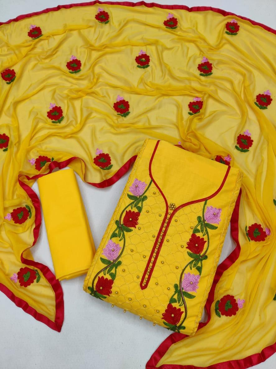 Exclusive Festival Collection Handwork Cotton Drees Material At Wholesale Rate