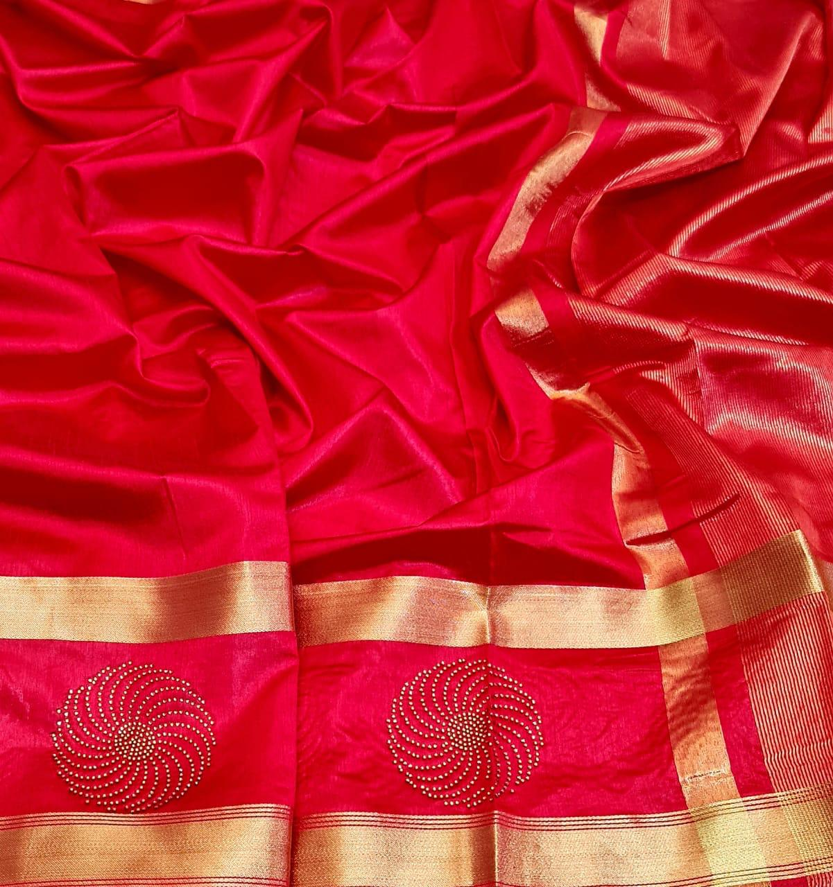 Exclusive New Designer Tussar Silk With Zari Border Heavy Saree At Wholesale Rate
