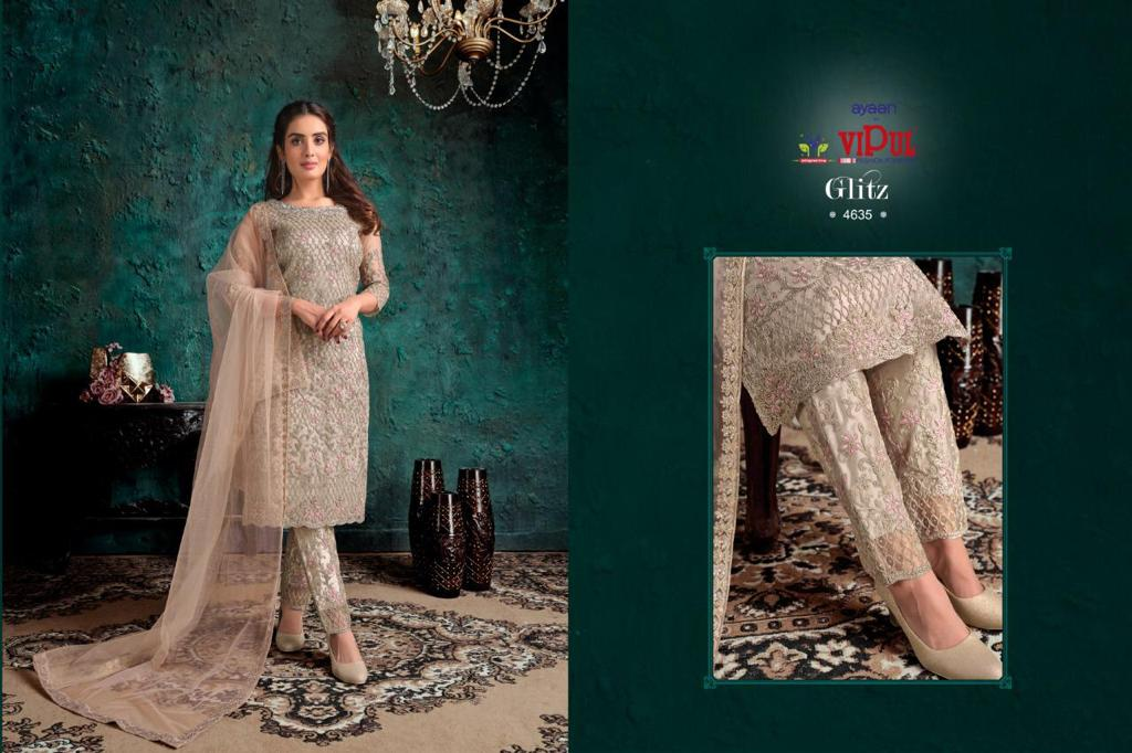 Awesome Partywear Embroidery With Stone Work Salwar Suit At Wholesale Rate