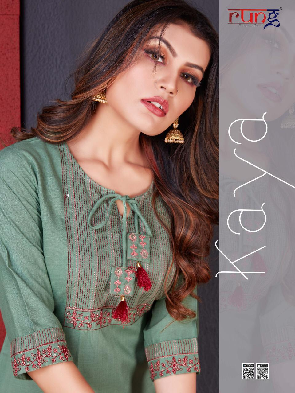 Heavy Slub With Sleeve And Neck Embroidery Designer Kurtis At Wholesale Rate