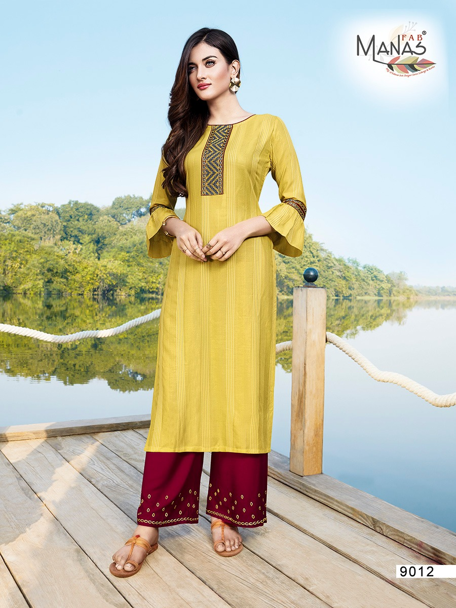 Exclusive Festival Collection Dayid Dobby Rayon Embroidery Kurtis with Pant At Wholesale Rate